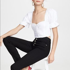 Reformation Cory High Waisted Black Skinny Jeans